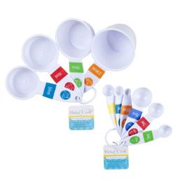 72 Units of Measuring Spoons/cup Set 6/4pks - Tape Measures and Measuring Tools