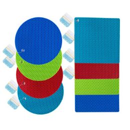 24 Units of TRIVET SILICONE 2AST 6.5IN ROUND - Oven Mits & Pot Holders