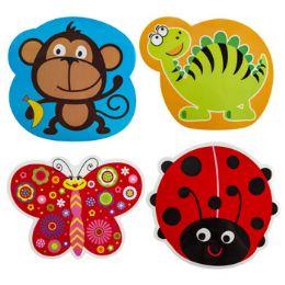 96 Units of Placemat Plastic Kids Diecut - Placemats