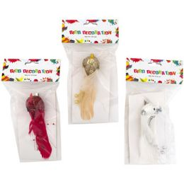 36 Units of Bird Ornament Clip On 6in - Christmas Ornament