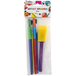 72 Units of Artist Paint Brushes 5pc Mixed - Art Paints