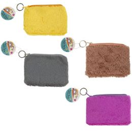 36 Units of Coin Purse Furry Plush 4asst - Plush Toys
