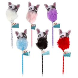 36 Units of Pen Dog Pom Pom 6ast Colors 10.43in 36pc Pvc Pdq/barbell Lbl - Pet Accessories