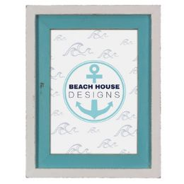 12 Units of Photo Frame 7x9 Wooden Blue/whte - Picture Frames