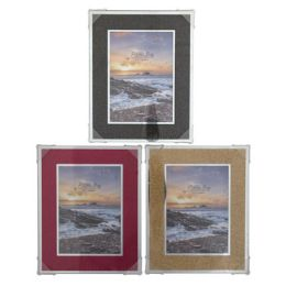 24 Units of Photo Frame W/wide Glitter Trim - Picture Frames