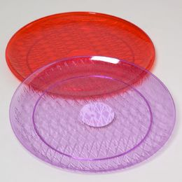 48 Units of Serving Tray Crystal 14in Round - Serving Trays