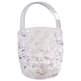 48 Units of Ice Bucket Clear With Folding - Buckets & Basins