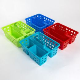 36 Units of Caddy 3 Compartment Rectangular 4 Colors In Pdq - Shelving