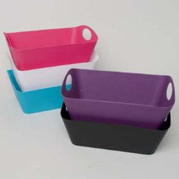 24 Units of Storage Basket Rect With Handles - Baskets