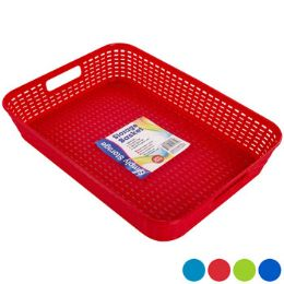 48 Units of Tray/basket Rect 4 Colors In Pdq - Baskets