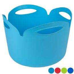 24 Units of Plastic Flexi Tub 4 Colors - Hardware
