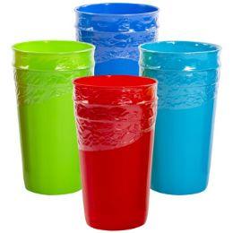 36 Units of Tumbler Plastic 2pk 30.1 Oz 4asst Colors Case Cut Display - Kitchen & Dining