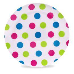 36 Units of Dinnerware Melmn Dessert Plate 8in Dot Print Summer Label 80g - Kitchen & Dining