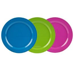 36 Units of Dinnerware Melmn Plate 11in 3ast Solid Colors Summer Label 135g - Kitchen & Dining