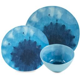 24 Units of Dinnerware Deluxe Blue Lagoon 8ea Dinner/salad/dessert 24pcpdq - Kitchen & Dining