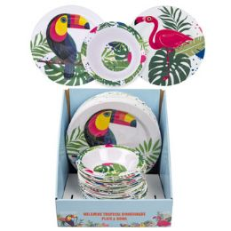 64 Units of Dinnerware Melamine Tropical - Kitchen & Dining