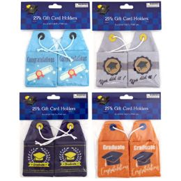 36 Units of Gift Card Holder Grad 2pk - Party Paper Goods