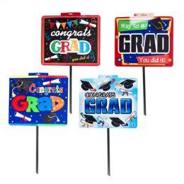 48 Units of Yard Sign Graduation 4asst - Garden Decor