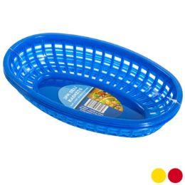 48 Units of Deli Basket 3pk/3ast Solid Color - Baskets