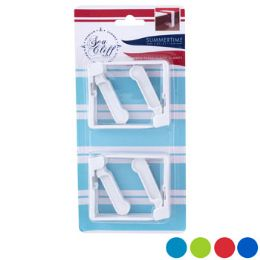 96 Units of Tablecloth Clamps 4pk Spring- - Party Paper Goods