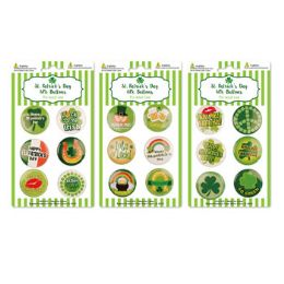 72 Units of Buttons St.patrick 6pk 1.5in - St. Patricks
