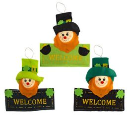 24 Units of Leprechaun Welcome Sign 3ast - St. Patricks