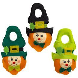 24 Units of Leprechaun Door Knob Hanger 3ast - St. Patricks