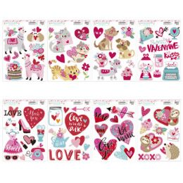 96 Units of Window Cling Love Theme 8asst - Stickers