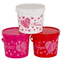 36 Units of Candy Bucket Plastic - Buckets & Basins