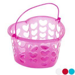36 Units of Basket Heart Shape Plastic - Baskets