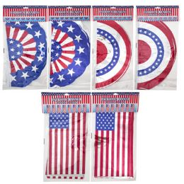72 Units of Banner Patriotic 12ft 3asst Bunting/flag 2ast Finish - 4th Of July