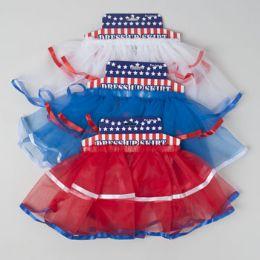 36 Units of Tutu Patriotic Skirt W/satin - 4th Of July