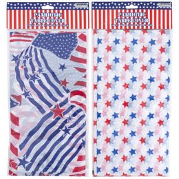 36 Units of Tablecover Patriotic Plastic - 4th Of July