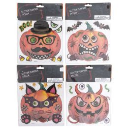 48 Units of Pumpkin Decorating Stickers - Halloween & Thanksgiving