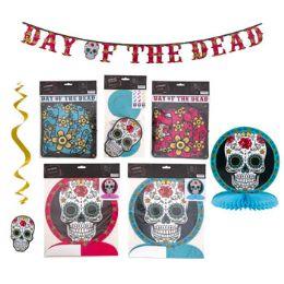 36 Units of Day Dead Sugar Skull Partydecor - Party Novelties