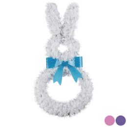 24 Units of EASTER BUNNY SHAPE TINSEL DECOR - Easter