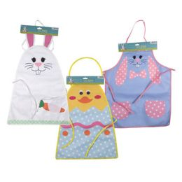 24 Units of APRON KIDS EASTER BUNNY OR CHICK - Easter