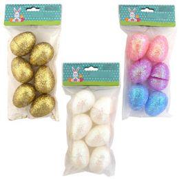 36 Units of EASTER EGGS 6PK GLITTER - Easter