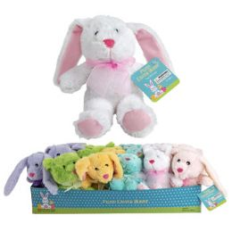 36 Units of Plush Easter Bunny 9in 6asst - Plush Toys