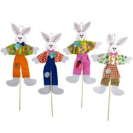 24 Units of EASTER BUNNY PICK DECOR 28INH - Easter