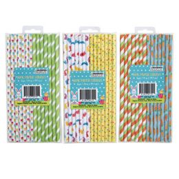 48 Units of STRAWS PAPER EASTER 14CT - Easter