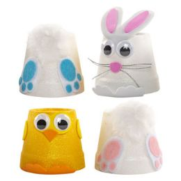36 Units of EASTER TABLE DECOR BUNNY/CHICK - Easter