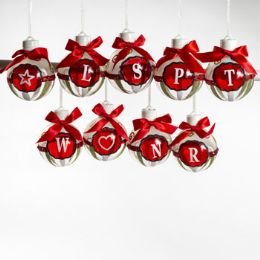 60 Units of Ornament Led Lighted Monogram - Christmas Ornament