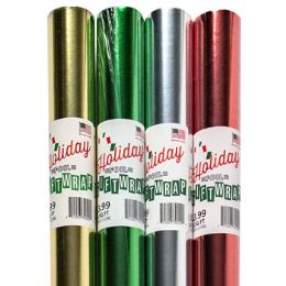 "66 Units of Gift Wrap Foil Xmas 30 Width"" - Christmas Gift Bags and Boxes"