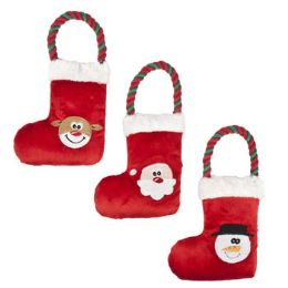 36 Units of Dog Toy Christmas Stocking/rope - Christmas Decorations