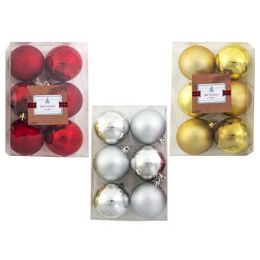 48 Units of Ornament Ball 6pk 2.36in - Christmas Ornament