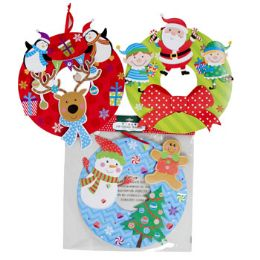 48 Units of Wreath Glitter & TiP-On Paper - Hanging Decorations & Cut Out
