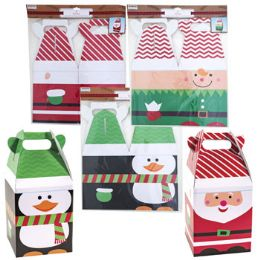 24 Units of Gift Box Giant W/handle Xmas - Christmas Gift Bags and Boxes