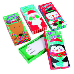 36 Units of Gift Card Holder Box 4asst - Party Paper Goods