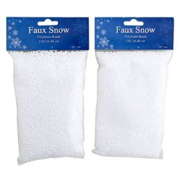 36 Units of Snow Faux Polyfoam Beads 2asst - Christmas Decorations